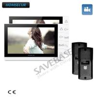 Homsecur 9 Проводной Видео домофонов Телефонный звонок Системы + ультра большой Экран Мониторы 2c2m + доставка из России