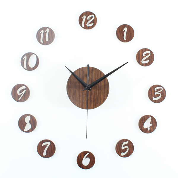 high quality brief numbers 3d diy mute wall clock home decoration
