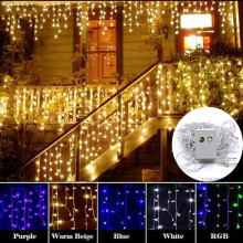 Горячая 10 м 100 светодиодная гирлянда Рождественская елка Сказочный светильник Luce водонепроницаемый домашний сад вечерние праздничные украшения
