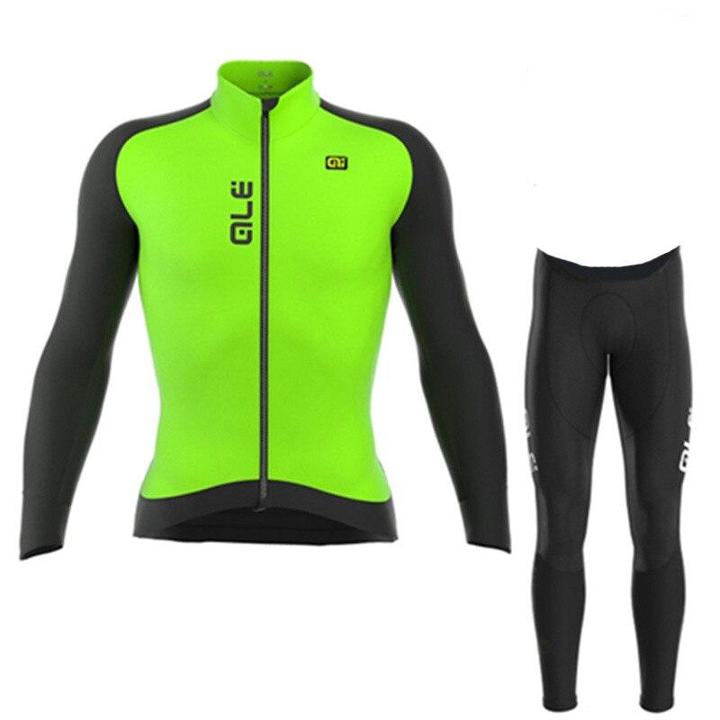ALE 2018 Cycling Jersey long Sleeve Bicycle Cycling Clothing Bike Wear Shirt MTB Riding Maillot Ropa Ciclismo Bib Pants