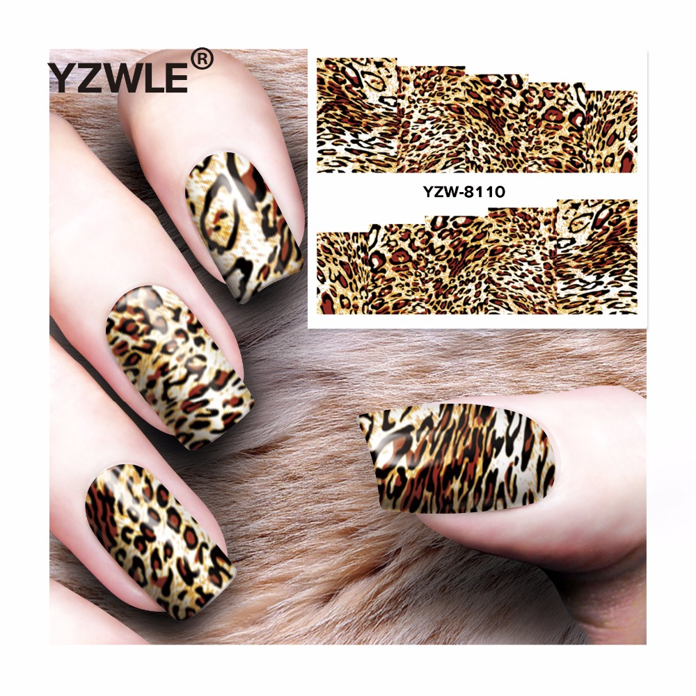 YZWLE 1 Sheet DIY Decals Nails Art Water Transfer Printing Stickers Accessories For Manicure Salon YZW-8110 yzwle 1 sheet diy decals nails art water transfer printing stickers accessories for manicure salon yzw 8161 page 2
