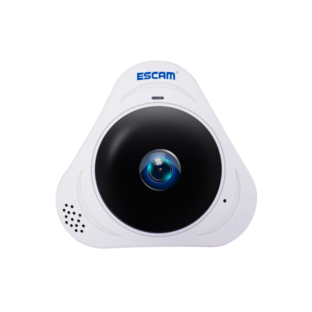 ESCAM Q8 HD 960P 1.3MP 360 Degree Panoramic Monitor Fisheye WIFI IR Infrared Camera VR Camera With Two Way Audio/Motion DetectorESCAM Q8 HD 960P 1.3MP 360 Degree Panoramic Monitor Fisheye WIFI IR Infrared Camera VR Camera With Two Way Audio/Motion Detector
