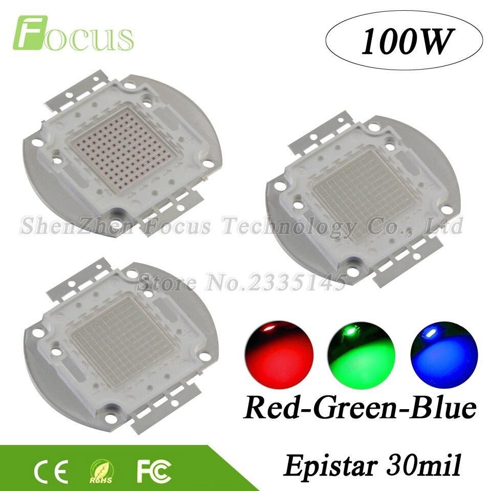 1Pcs High Power LED Chip 100W COB Light Beads 100 W Watt Red Green Blue DIY For 100W 200W 300W LED Spotlight Floodlight