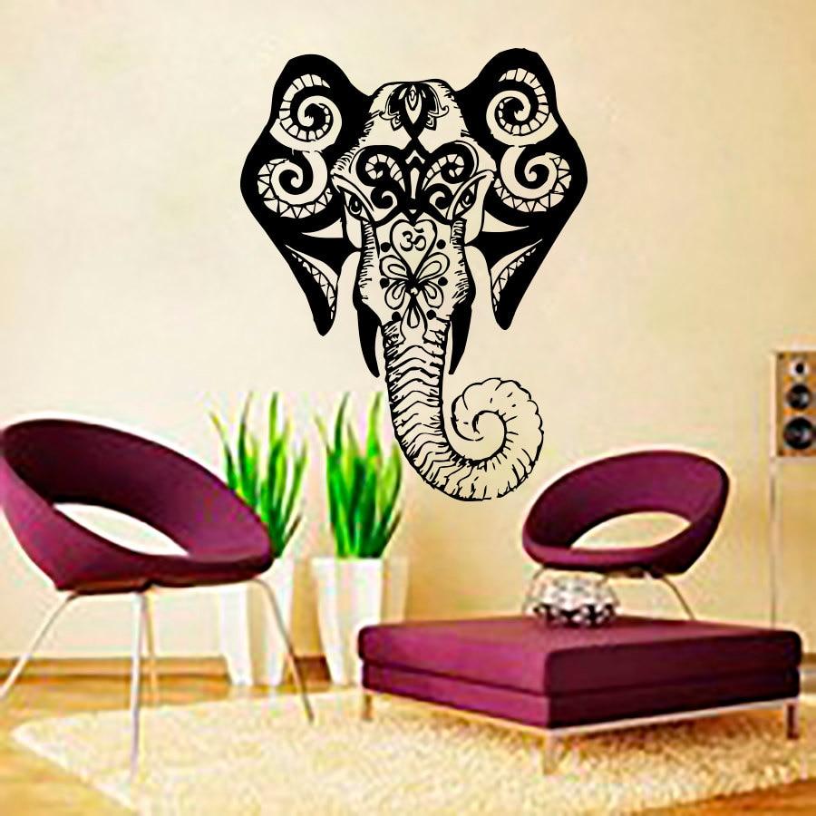 Aliexpresscom Buy Living Room Wall Art Sticker Indina Elephant