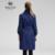 Salco envío gratis 2015 Hot Ladies estilo europeo y americano, sra. largas secciones rompevientos chaqueta
