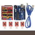 CNC Shield Expansion Board V3.0 + UNO R3 Board for Arduino + Stepper Moto Driver A4988 With Heatsink Kits for Arduino