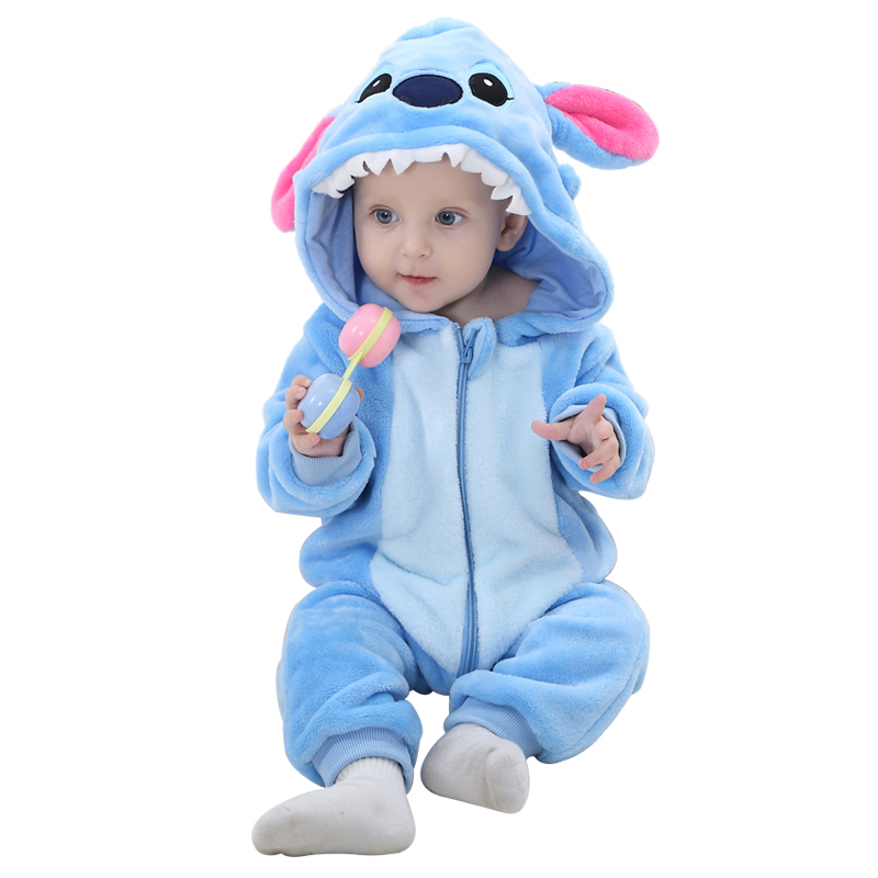 Kids Boy Girls Sleepwear Brand Designer Soft Flannel Animal Baby Pajamas Kawaii Warm Boys Girls Hooded
