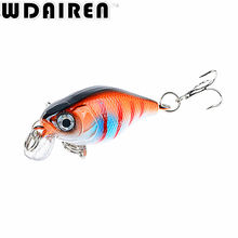1Pcs 4.5cm 4g Crank Fishing Lures Hard Bait Minnow Fishing Lure Bass Crankbait Swimbait Trout Baits with 10# hooks Tackle