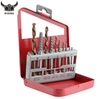 EVANX 10pcs Screws Extractor Drill Bits Set Easy Out Remover Center Drill Damaged Bolts Power Tools