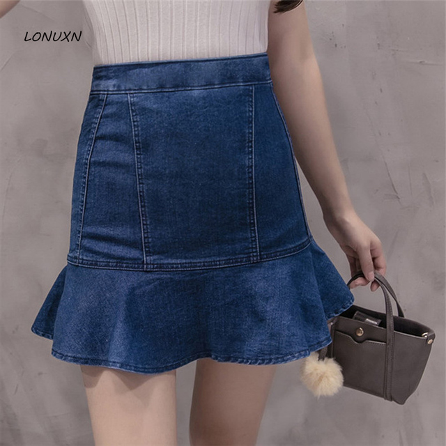 11bfd2f818 3 colores falda de volantes cintura Pantalones cortos primavera femenina  2017 verano hoja de loto lado