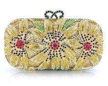 YU18-3 Crystal Evening Bag Clutch Peacock diamond pochette soiree Women evening handbag wedding party purse clutch bag