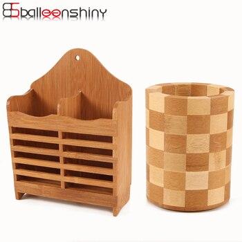 Palillos de madera brillante caja organizadora soporte cocina almacenamiento  cubertería palillos cuchara escurridor utensilios de cocina vajilla b9f81c21d9d2