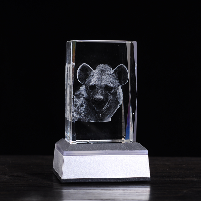 Nowości Prezenty Animal Leopard 3D Crystal Night Light Do salonu 3 * AAA 3D ​​Led Night Light zasilany bateryjnie