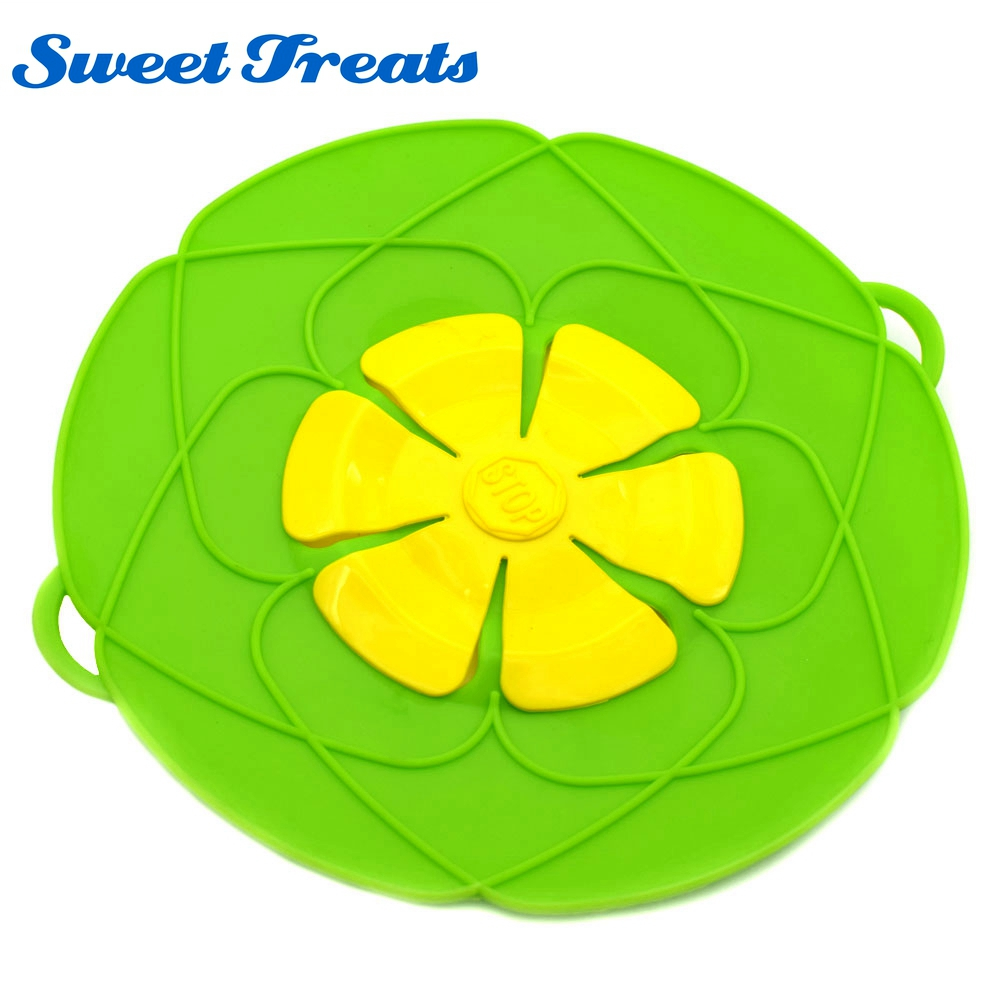 Sweettreats Silicone Pot Anti Overflow Lid Spill Stopper Pan Boil Over Safeguard Cover Caps Against Iron Cooking Tools