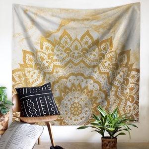 Image 5 - Tapestry Mandala Flower Wall Hanging Farmhouse Home Decor Boho Bohemian Psychedelic Ceiling Window Blanket Bedspread Beach Towel