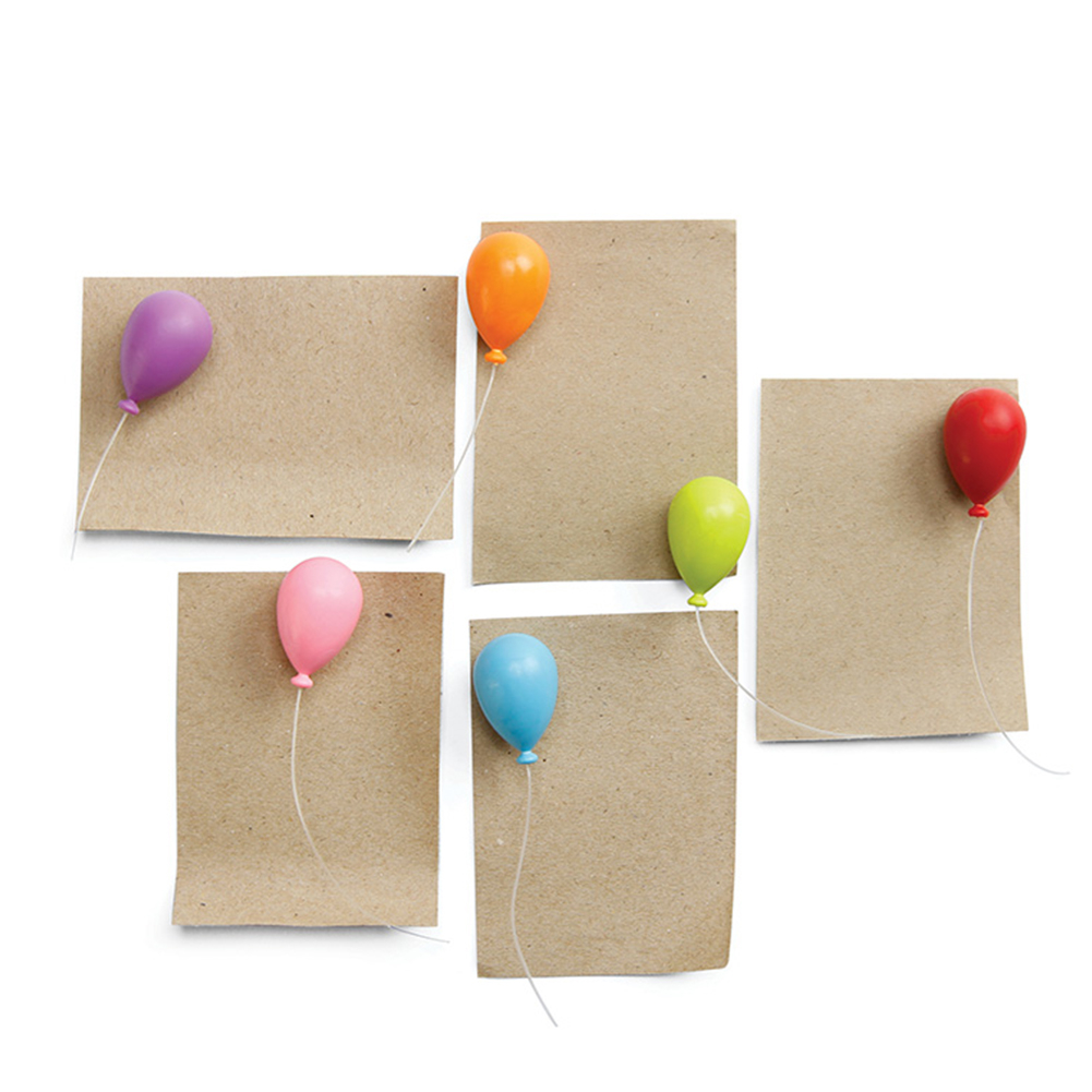 Image 3 - 6pcs Portable Balloon Shape Cute Crafts Accessories Mini Note Decoration Fridge Magnet Home Whiteboard Message Holder ABS-in Fridge Magnets from Home & Garden