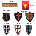 Military Embroidery Patch Army Badge Cross Crusader Shield Navy Seal DEVGRU Tactical Badge Forest Patch 3D Cloth Armband Badge
