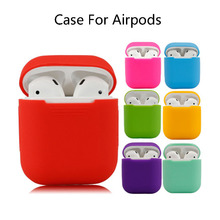 1PCS Silicone Case For Air pods Wireless Earphone Charging Box Protective Cover For Apple Airpods Case For Airpods 2 Accessories