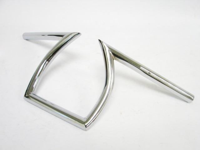 Freeahipping Chrome Drag  25mm  handle bar Handlebars 1  Z Bars 8-3/4 Rise for Triumph BSA Victory Custom Chopper Cafe Racer