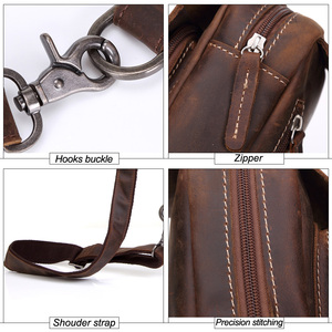 Image 5 - MISFITS 2019 new genuine leather messenger bag mens casual chest packs luxury brand crossbody bag cowhide shoulder bag for male