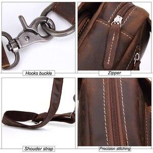 Image 5 - MISFITS 2019 nieuwe echt lederen tas mannen casual borst packs luxe merk crossbody tas koeienhuid schoudertas voor mannelijke