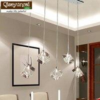 T Transparent Crystal LED Dining Room Bar Pendant Light Modern Fashion Lamps For Home Living Room