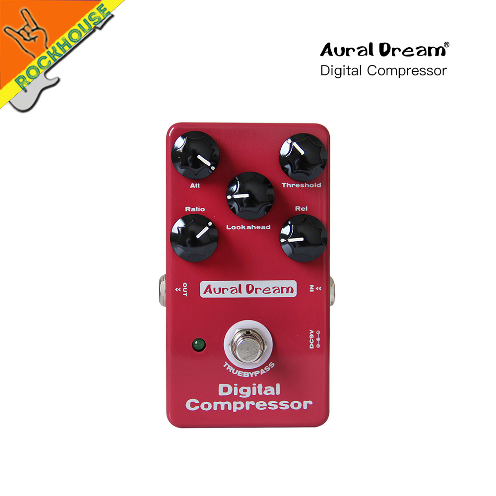 AuralDream Compressor Guitar Effect Pedal Compressor Guitarra Pedal Stompbox Balance Dynamic Output True Bypass Free Shipping diy compressor pedal bass compressor effects pedal stompbox kit true bypass high quality
