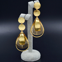 Sunny Jewelry 2018 New Arrivals Long Drop Dangle Earrings For Women Bridal Dubai High Quality Moon For Wedding Party Daily Gift
