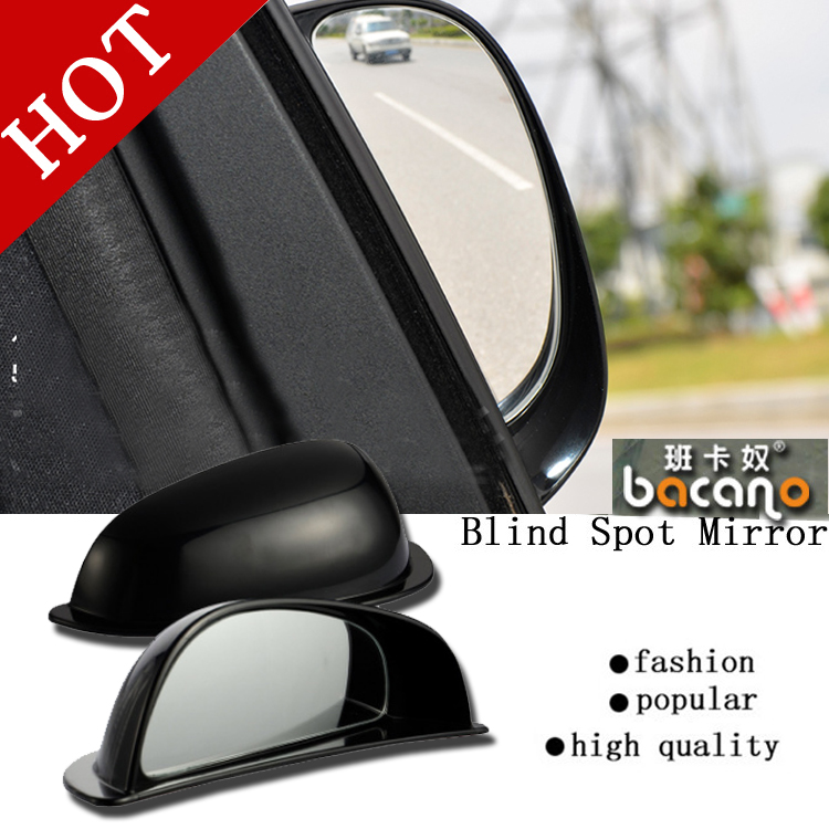 BACANO 2017 2pcs/lot New Car Styling Auto Motorcycle Blind Spot Rear View Mirror 360 Degree Adjustable Car Mirror Accessories