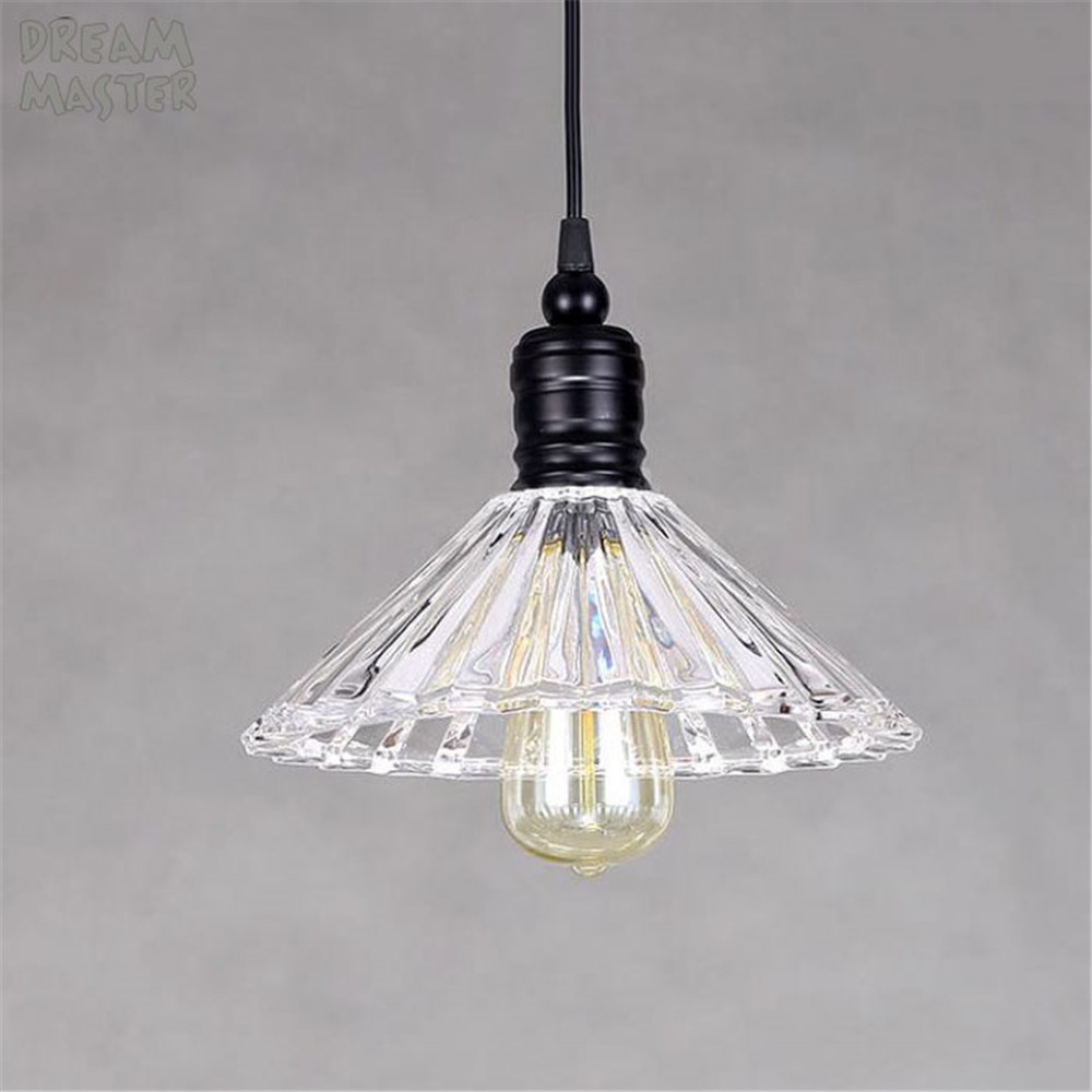 Vintage chandelier Lights Glass Hanging Lamps For Kitchen Luminaria Retro Loft Light Fixtures Modern ceiling pendant lamps ideal lux бра ideal lux dado ap1