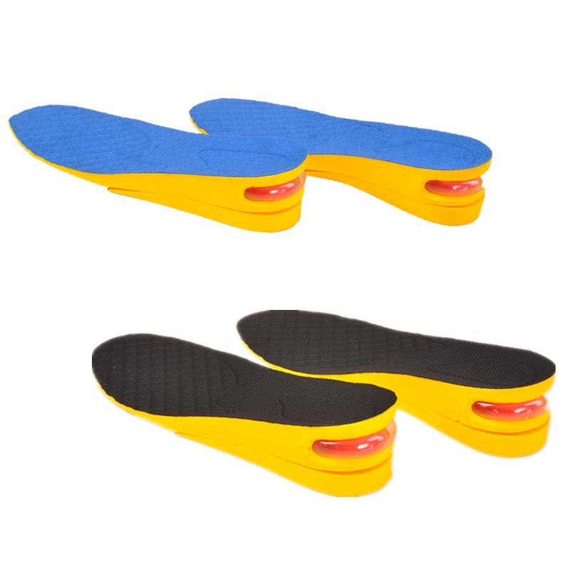 2-Layer 5CM Men Height Increasing Insoles Discreet And Adjustable Air Cushion Taller Heel Lifts W13-MY