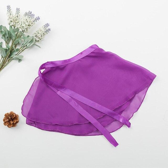 Ballet enveloppement sur écharpe danse justaucorps Skate Tutu jupe en mousseline de soie tablier jupe transparente avec taille pour scène Performance fête Costume