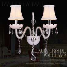Fashion White Crystal LED Wall Light Modern Sconce for Bedroom Living Room Tok K9 Crytal Lamp