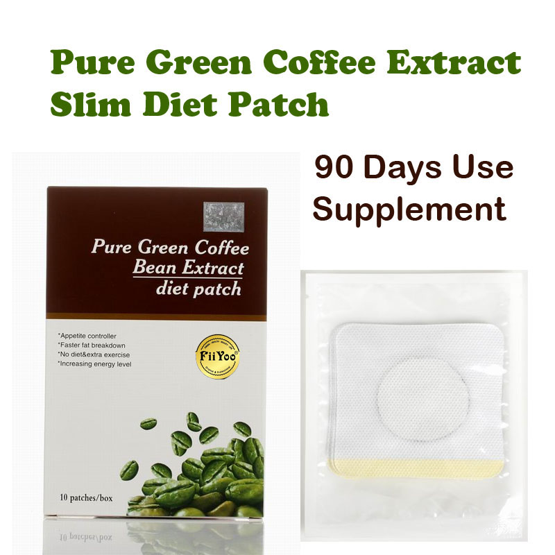 (90 days supply) FiiYoo Pure green coffee been extracts diet patch for weight loss 100% effective slimming fast for man & woman free shipping 3pcs top quality pure garcinia cambogia extracts weight loss 75