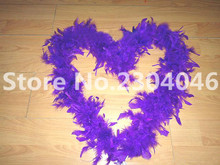 Beautiful purple 2 meters long (38-40 grams) decoration feather garment accessories wedding DIY fire feather fire tablets