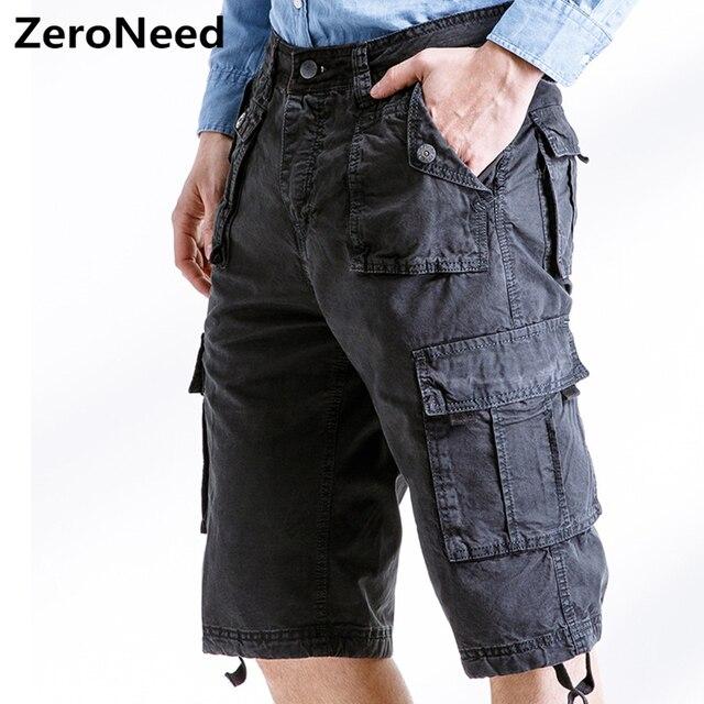 Hombre Multi-Bolsill Bermudas Pantalones Corto De Trabajo Casual Shorts Cargo 86BF1PkV9F