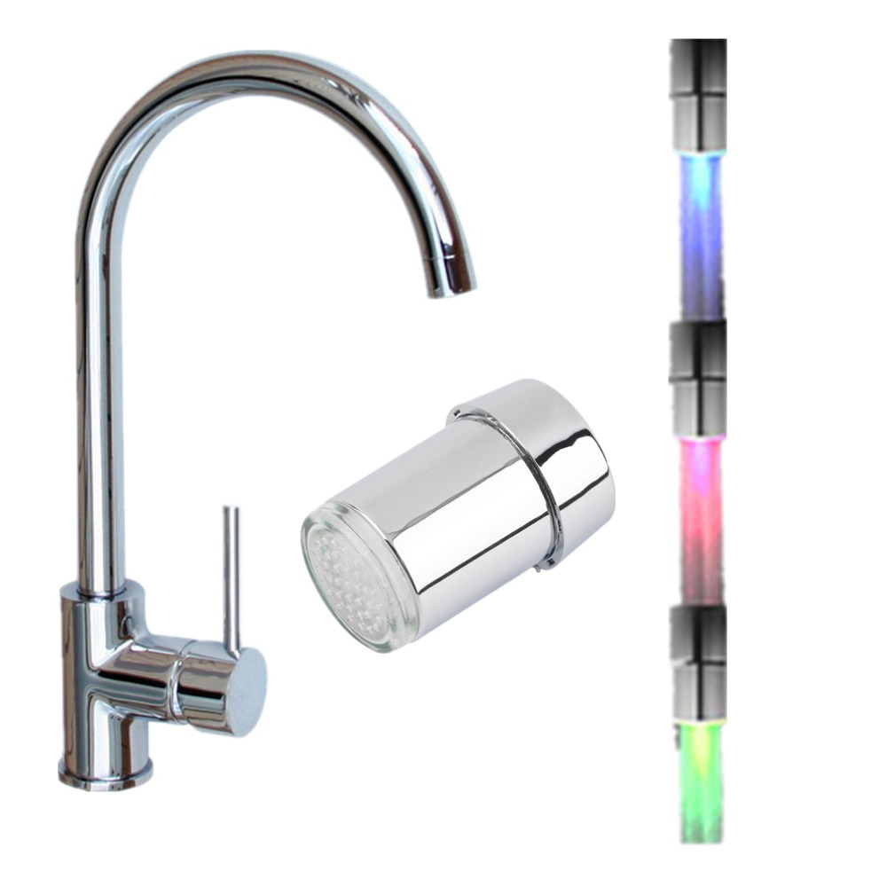 Water Faucet Tap LED Light Temperature Sensor with Intelligent Recognition RGB