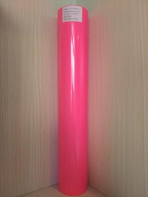 05m1m Neon Pink Color Pu Flex Vinyl Paper Pu Heat Transfer Vinyl