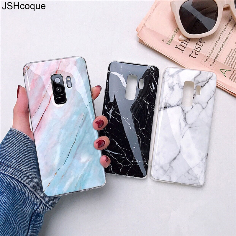 Silicon Marble Cases for Samsung S10 Plus Phone Case for Cover Samsung A50 A20 A30 M10 Etui for Samsung S7 S8 S9 Plus Note 8 9(China)