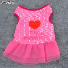 PanDaDa юбка для домашних животных талисманы я люблю свою собачку платье для собак юбка я люблю свою маму платья для собак