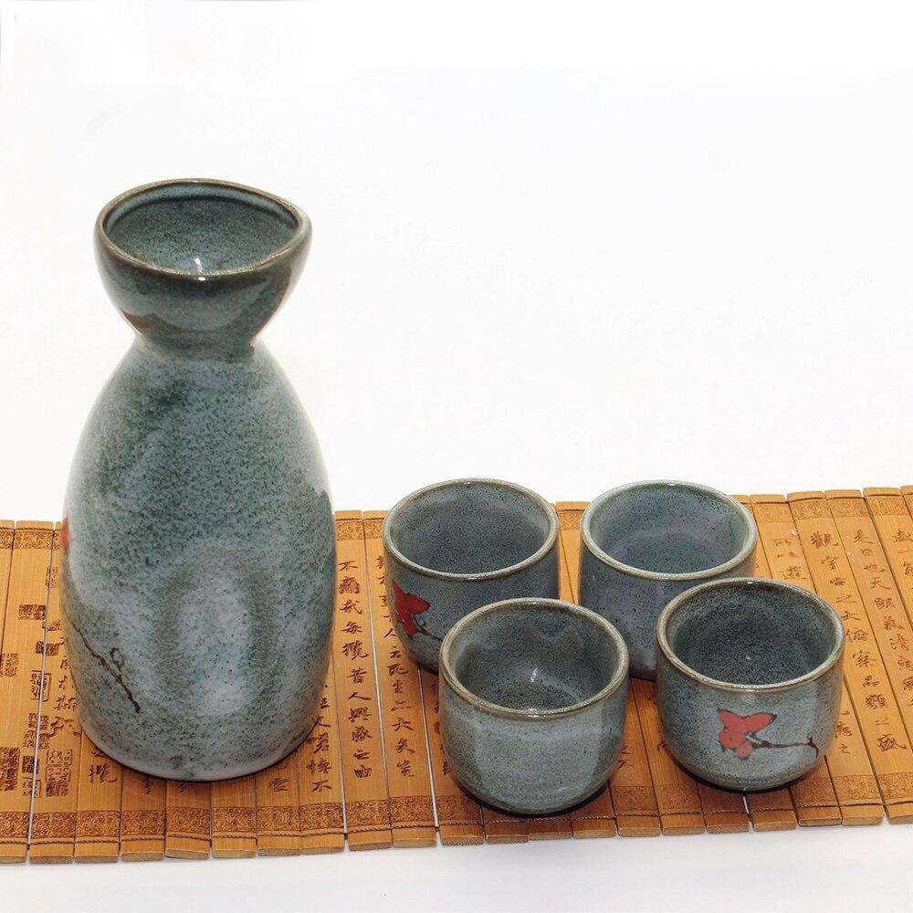 5pcs High Temperature Ceramic Sake Cup Set Home