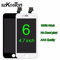 オリジナルszkoston lcd用iphone 6 6プラス6 sプラス液晶完全なディスプレイタッチスクリーンデジタイザアセンブリの交換ブラックホワイ