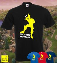 FORT VICTORY ROYALE BATTLE GAMING T-SHIRT PS4 XBOX ONE GAMERS YOUTUBER TEE Free shipping Harajuku