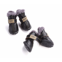 Snow Boots Leather Dog Shoes