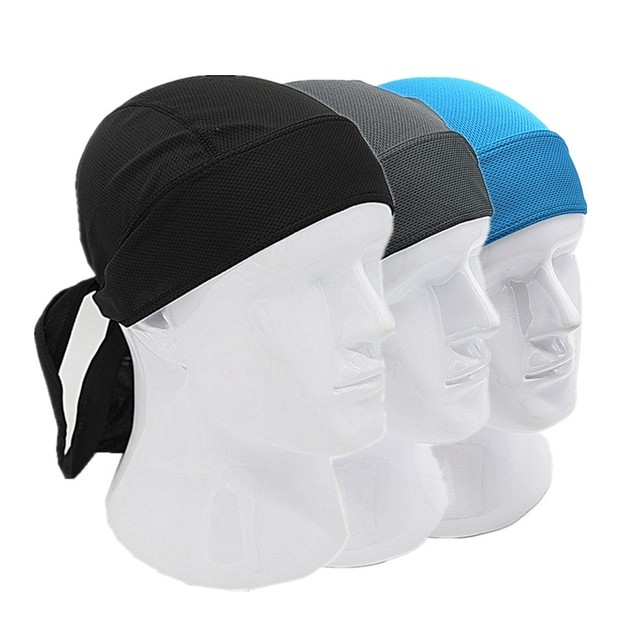 Outdoor Quick Dry Pure Cycling Cap Head Scarf Headscarf Headband Summer Men Running Riding Bandana Ciclismo Pirate Hat Hood 3