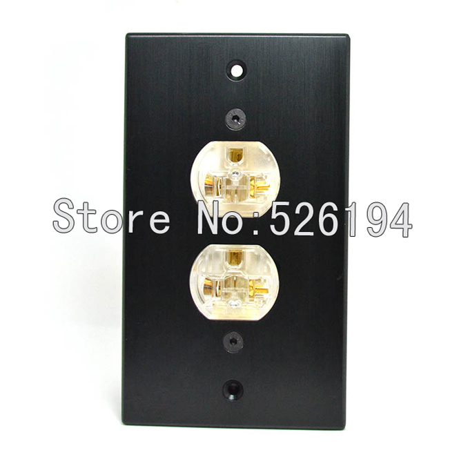 Free shipping one pcs AC-105B Acrolink Aluminium red copper AC Power Conditioner Wall Plate onepieces
