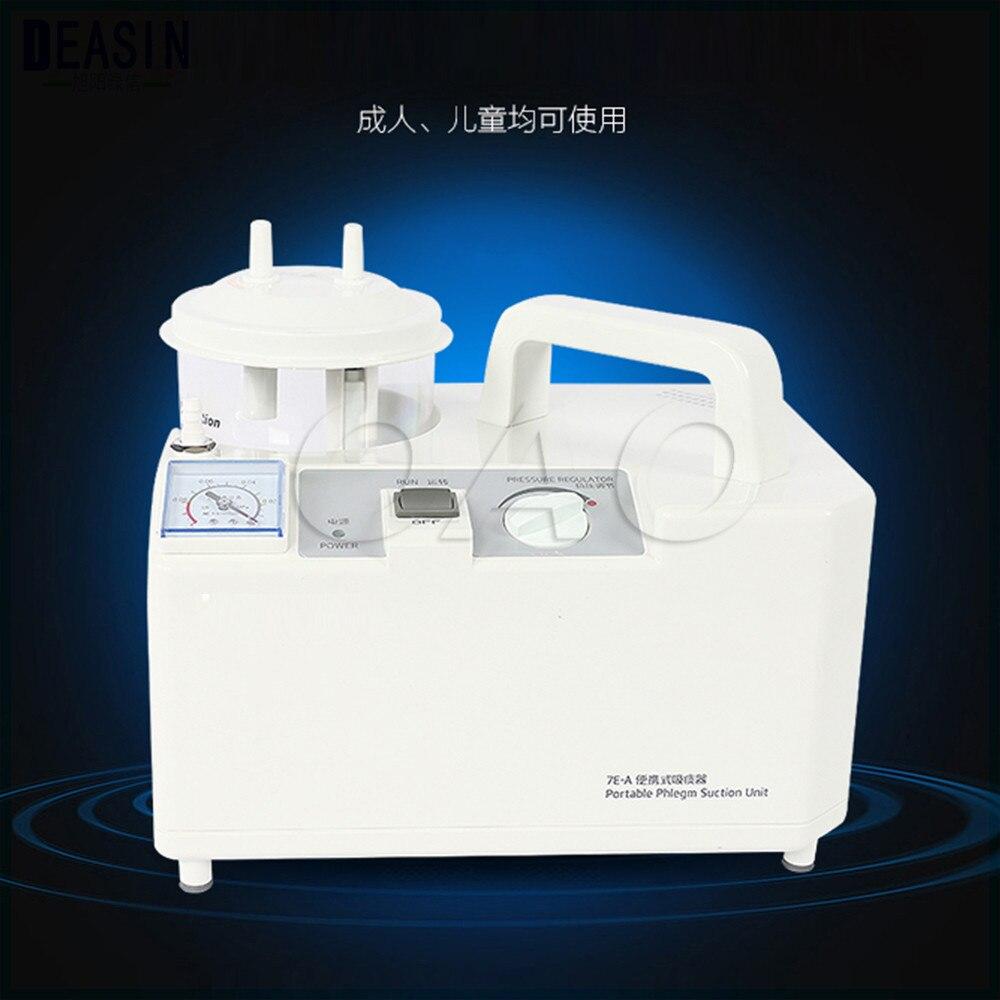 Unité d'aspiration de flegme sous vide dentaire Portable électrique équipement de Machine d'aspirateur de crachats d'urgence médicale 1000 mL