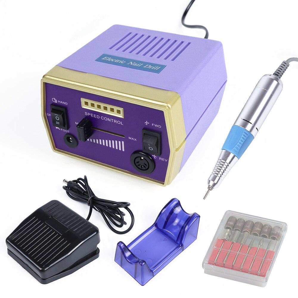 30000 rpm Professionnel fraise à fileter Minicure Set machine électrique dissolvant pour vernis à ongles coupe-ongles Peu Pédicure Accessoire LAHBS-288