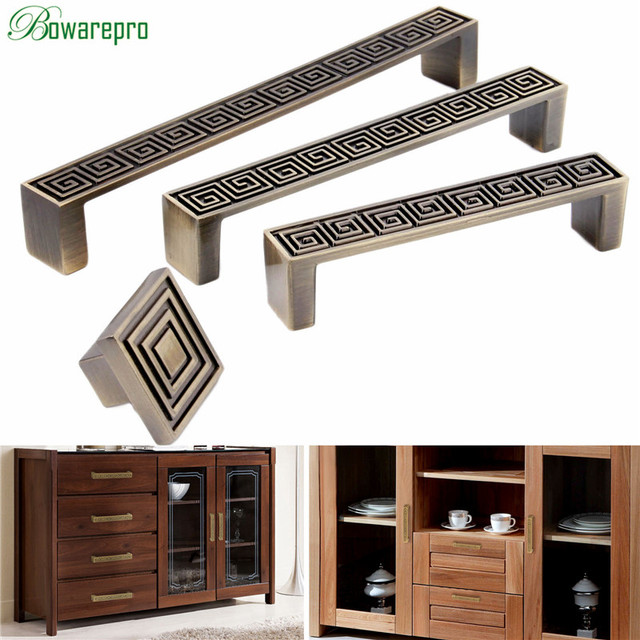 US $1.69 20% OFF|bowarepro Antique Handle Drawer Vintage Furniture Handles  Pull Kitchen Cabinet Handle Bedroom Drawer Pulls 32/96/128/160MM-in Cabinet  ...