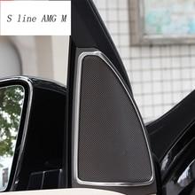 Стайлинга автомобилей интерьера двери стерео аудио Динамик крышка Стикеры отделкой для Mercedes Benz ML GL GLE W166 купе C29 авто аксессуары